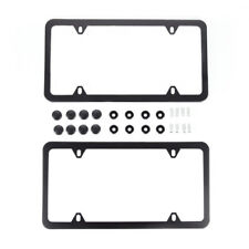 Slim/Thin Black Metal License Plate Frame Holder Car Auto Truck Tag Cover for US