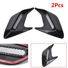 2Pcs DIY Shark Fins Car Body Side Air Flow Vent Grille Stickers 20.5*11.5*2.7cm
