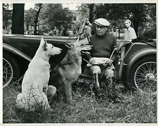GALLOPING MAJOR 1951 Basil Radford  MG NA MAGNETTE 4-SEATER 10x8 PHOTO #PUB2