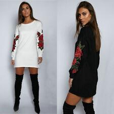 Women Casual Blouse Long Sleeve Fashion T Shirt Loose Short Dress Tops Plus Size