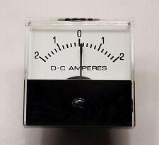Jewel MS1T +/- 2 AMP DC ANALOG PANEL METER - New Old Stock