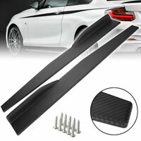 x2 Universal Car Carbon Bumper Spoiler Rear Lip /Side Skirt Extension Splitters