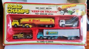 JRI Inc. No.9004 Road Champs Trucking Gift Set 1981 MIB similar Matchbox