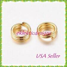 4mm 100pcs Gold Plated Split Dbl Jump Rings Jewelry Findings Earrings Necklace