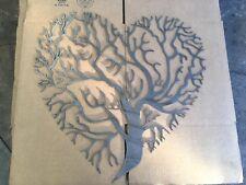 "36"" Metal Wall Art Decor Tree Of Life Heart Shaped"