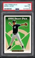 1993 Topps Gold #98 DEREK JETER RC HOF New York Yankees PSA 10 GEM MINT