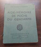 K01109 livre aide mémoire de poche du gendarme 1948 militaria Paris