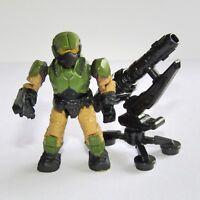 Halo Mega Bloks  UNSC Human Soldier  Marine Trooper Mini Figure with Missile Pod