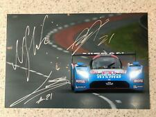 Nissan GT-R LM Nismo 12x8 photo Le Mans 2015 signed by Tincknell Buncombe Krumm