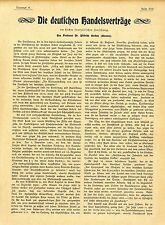 Le prof. Dr. wilhelm Oncken servir les Allemands traités de commerce français... 1901