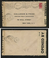 France  nice  double  censor cover to  US  1942                   KEL0418