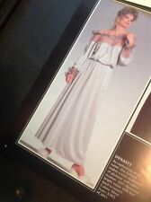 """Vintage Cattani of California Lingerie Gown """"Dynasty"""" 1980's. New Never Worn. Us"""