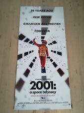 "2001 A SPACE ODYSSEY  Original Movie Poster 12x27"" Italian KUBRICK NOLAN"