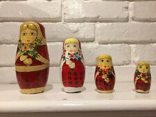 Vintage Set Of 5 Nesting Dolls Probably Russian Made