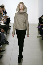 =ART= JIL SANDER By Raf Simons Beige Structural Collar Wool Cashmere Jacket US2