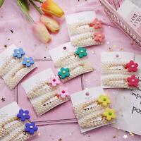 Women Korean Design Flower Pearl Hair Clip Barrette Hairpin Hair Accessories