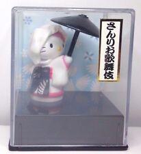Vintage 2001 Sanrio Hello Kitty Japanese Kabuki scene figurine in Shadow Box