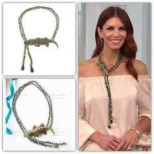 Heidi Daus Ali-Gorgeous Beaded Crystal Drop Necklace