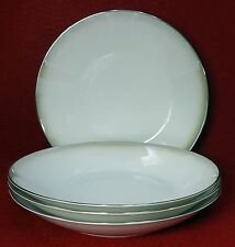 "ROSENTHAL china Pattern 3470 ""SHADOW EDGE"" Soup Salad Bowl -Set of Four (4) - 9"""