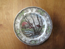 "Johnson Bros England FRIENDLY VILLAGE Salad Plate 7 5/8"" Willow 1 ea 4 available"