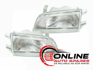 Pair of Headlights to suit Holden Barina 1989-94 & Suzuki Swift 1989-99 MF MH