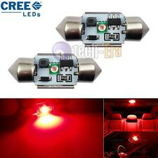 2pcs Red High Power 5W 31mm DE3175 CREE LED Bulbs For Interior Dome Map Lights