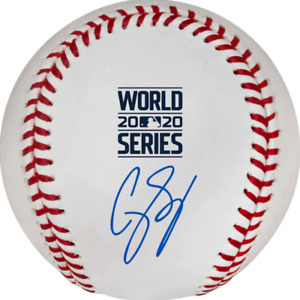 Corey Seager Los Angeles Dodgers 2020 MLB World Series Champions Signed Baseball