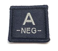 Blood Group Woven Dark Blue Patch #2, LBV, Police & Emergency Workers, Hook Rear