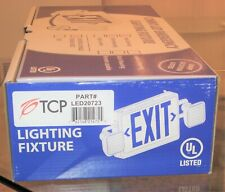 EMERGENCY LIGHT FIXTURE # TCP 20723 Combo Ext Sign, LED, White Face, Red Letters
