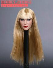 "1/6 Female Head Sculpt Blonde Hair GC019 G For 12"" PHICEN Hot Toys Figure ☆USA☆"