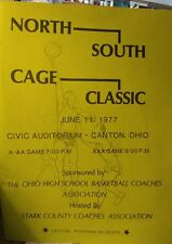 1977 Ohio Basketball Program North South Cage Classic Canton OH