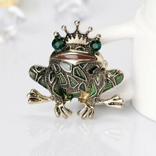 Fashion Cute Animal Frog Crystal Rhinestone Brooch Pin Jewelry Women Men Gift