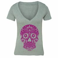 Sugar Skull Day of the Dead Shirt Mexican Gothic Dia Los Muertos Tshirt Gray