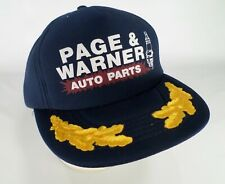 15b733c6a55 Page   Warner Auto Parts Hat Cap Spark Plug Scrambled Eggs Laurel Navy Blue  Vtg