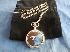 STAR TREK ENTERPRISE 1701 (2) CHROME POCKET WATCH WITH CHAIN (NEW)
