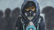 Video Game  Overwatch Tracer Graffiti ART Silk Poster/Wallpaper 24 X 13 inches