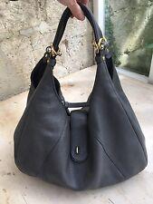 Stunning Authentic Loewe Grey Leather Hobo Bag Rrp £1,500