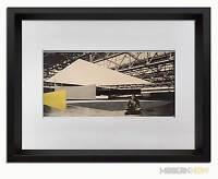 "Mies Van Der Rohe LTD Lithograph -CONCERT Hall Project 1942 +Custom FRAME 18x24"""