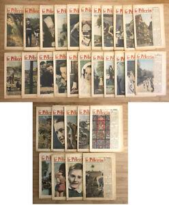 LE PELERIN Journal Revue LOT de 31 2X1948 + 29X1949 papier jauni en l'état