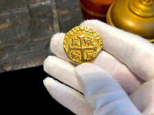SOLID GOLD REPO PERU 8 ESCUDOS 1740 PIRATE GOLD COINS 10.3 GRAMS 14KT GOLD