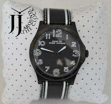 New Marc By Marc Jacobs Men's Watch Henry Trompe Black Leather MBM1233 45mm