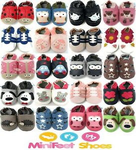 MINIFEET SOFT LEATHER BABY SHOES / TODDLER SHOES - 0-6 Months to 3-4 Years