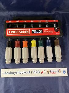 NEW Craftsman CMHT65121 7pc Metric Nut Driver Set - 5, 6, 7, 8, 9, 10, 11 mm