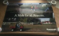 """1994  Vintage Kawasaki Poster Approximately 25 by 38"""" A Mule For All Reasons"""