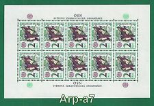 Czechoslovakia sheet Mi: 2391KB MNH ** 1976 Fight against addiction and smoking