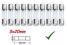Fusibile Ritardato 1,6A 5x20mm - Fusibili in Vetro 250Vac Confezione 10pz