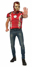 Iron Man Mark 43 Shirt Mask Adult Men Costume Superhero Red Rubies Halloween