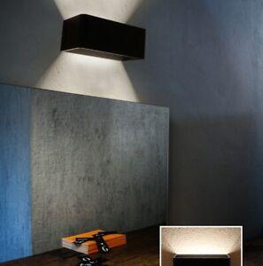 Modern 9W LED Indoor Wall Light Up Down Lamp Sconce Living Room Bedroom Black UK