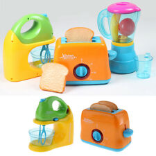 Battery Powered Children Pretend Play Kitchen Toys -Blender & Bread Maker
