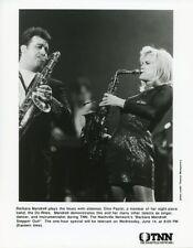 BARBARA MANDRELL DINO PASTIN PLAY SAXOPHONE STEPPIN OUT 1995 TNN TV PHOTO